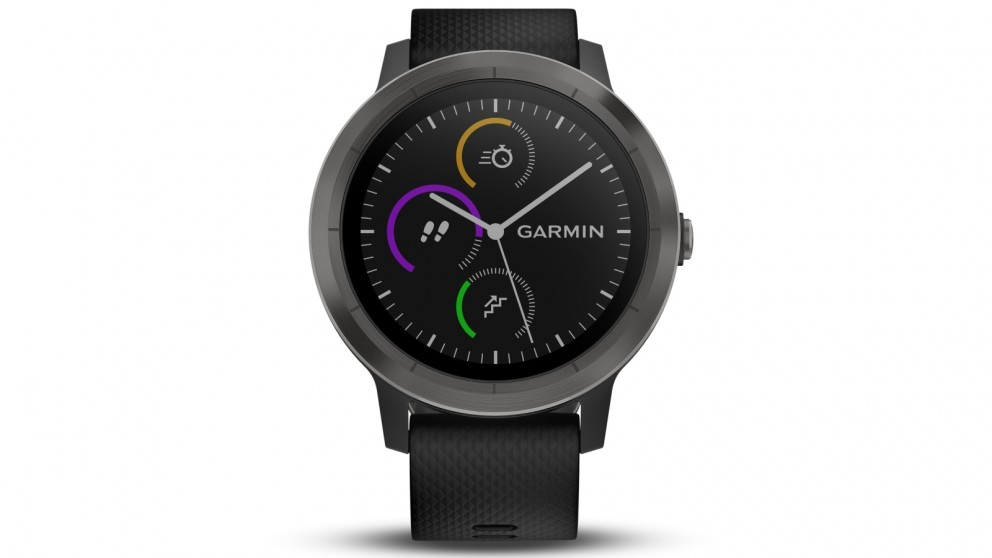Garmin Vivoactive 3 GPS Smart Watch with Activity Tracking - Gunmetal with Black Band