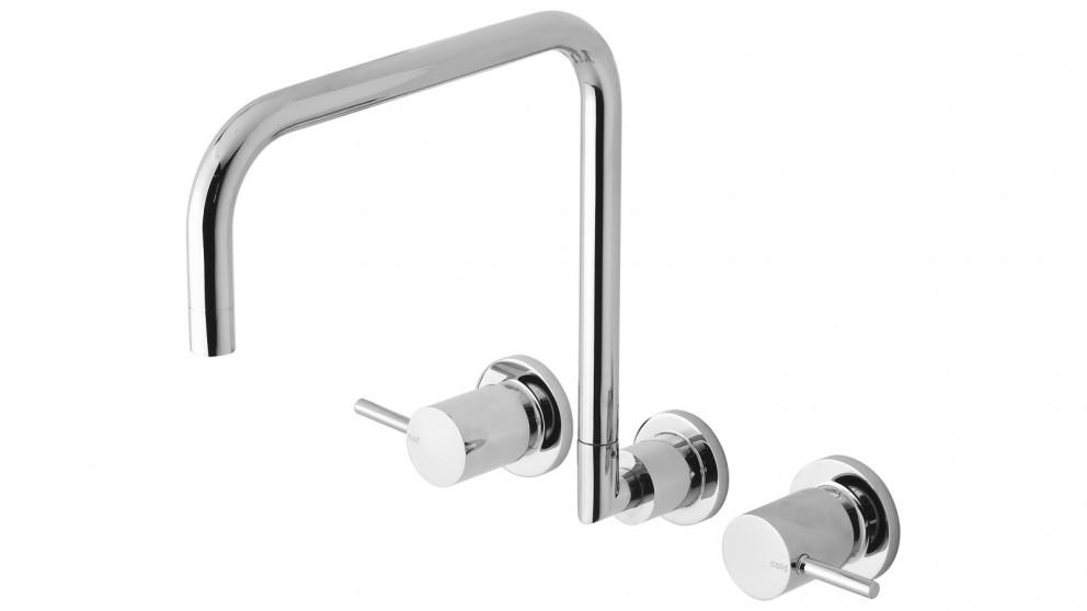 Phoenix Vivid Pin Lever Wall Sink Set Squareline - Chrome