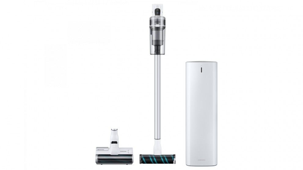 Samsung Jet Light VS70 Complete Stick Vacuum with Soft Action Brush & Jet Clean Station (White)