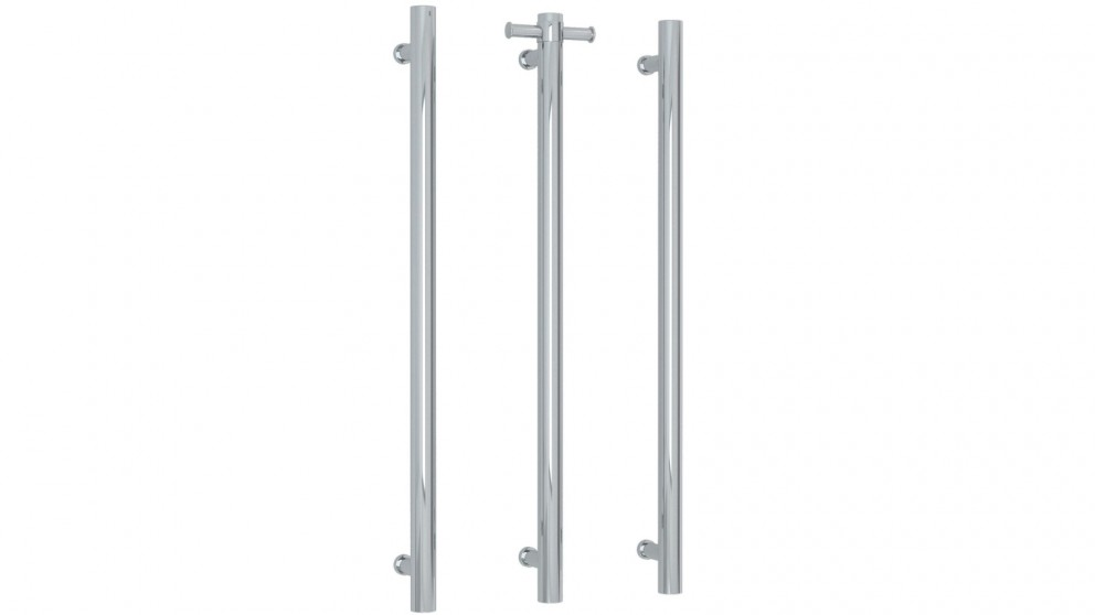 Thermogroup Thermorail Straight Round Vertical Single Bar Heated Towel Rail