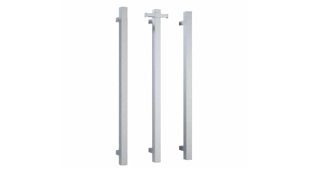 Thermogroup Thermorail Square Vertical Single Bar Heated Towel Rail