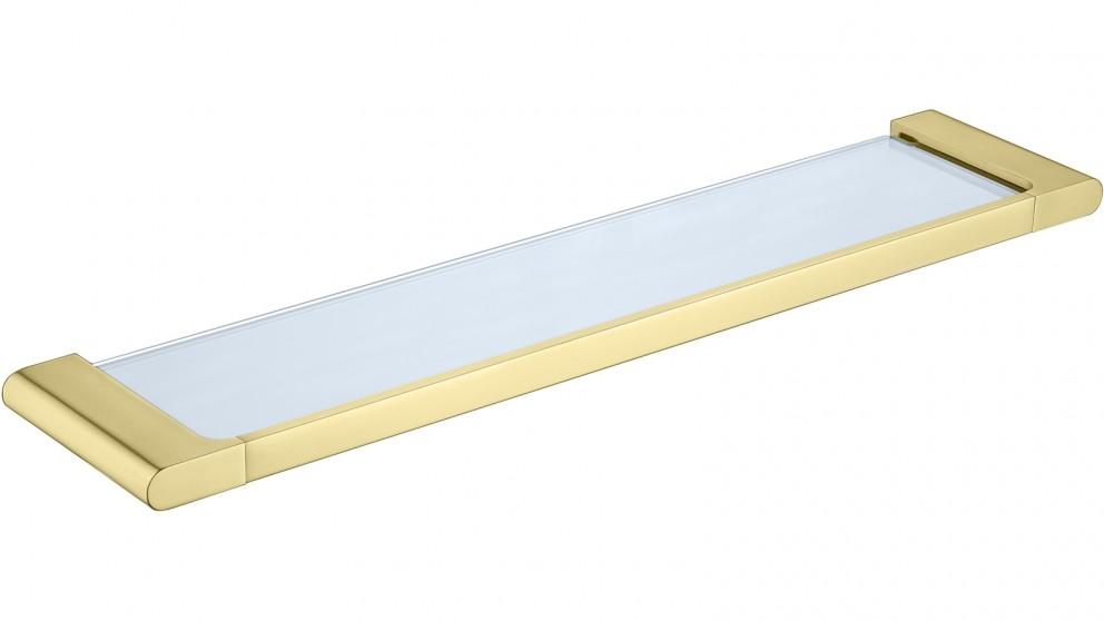 PLD Vantage Glass Shelf - Brushed Brass