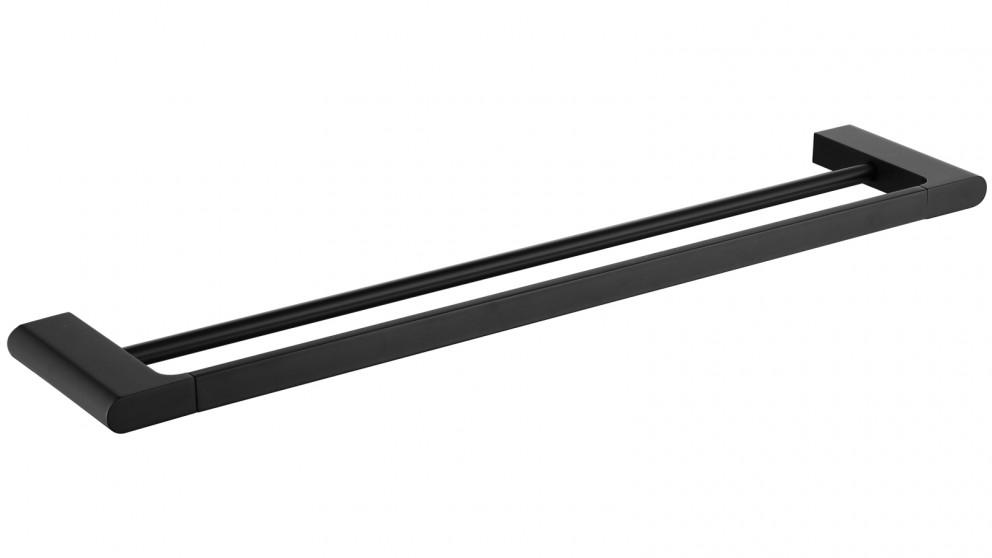 PLD Vantage 800mm Double Towel Rail - Matte Black