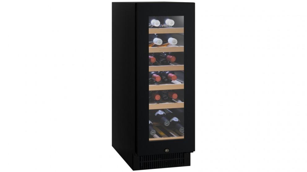 Vintec 20 Bottle Single Zone Borderless Black Glass Wine Cabinet