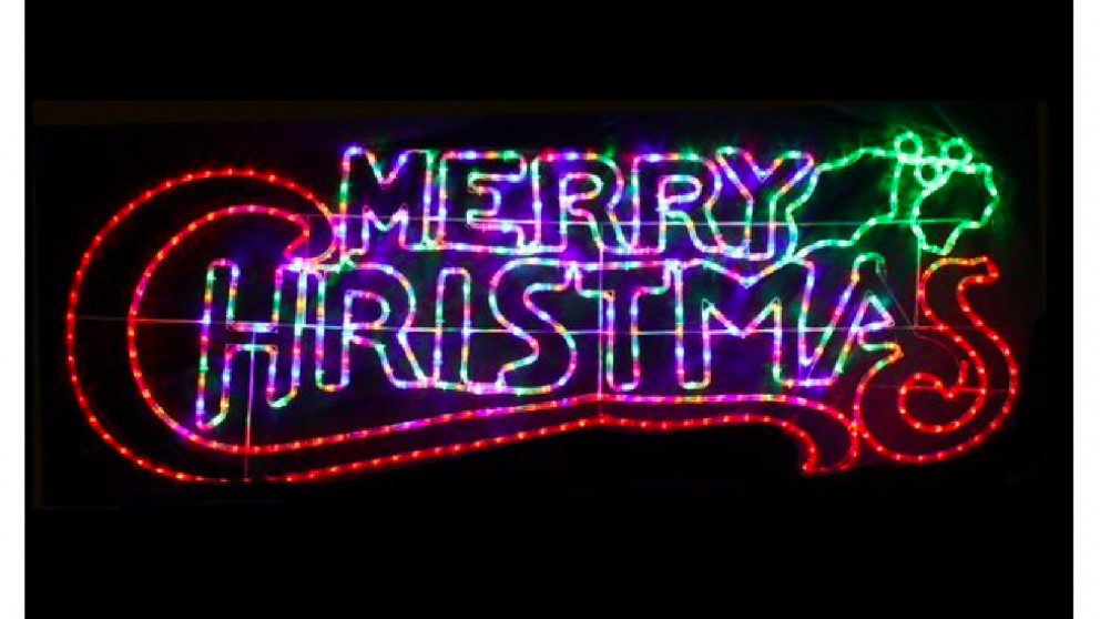 Lexi Lighting 100cm Christmas Sign - Multicolor + Red