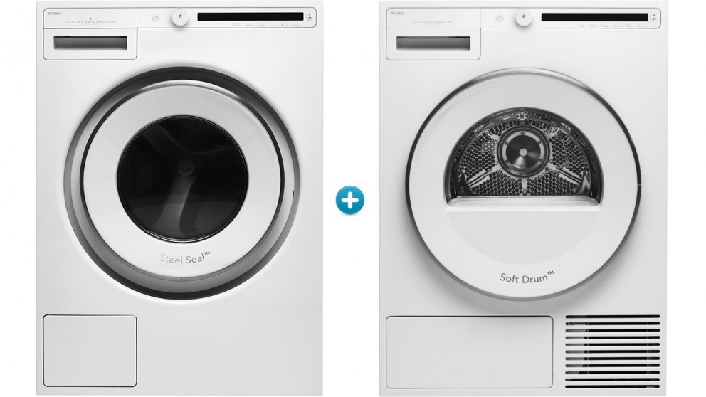 Asko 8kg Classic Front Load Washing Machine & Heat Pump Dryer Package