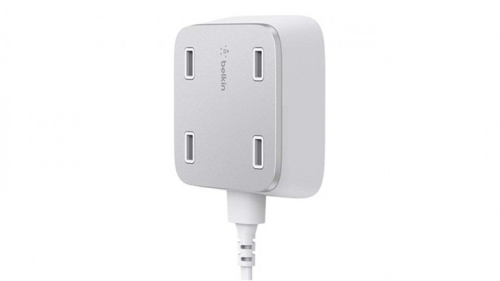 Belkin Family Rockstar 4 Port Usb Wall Charger White