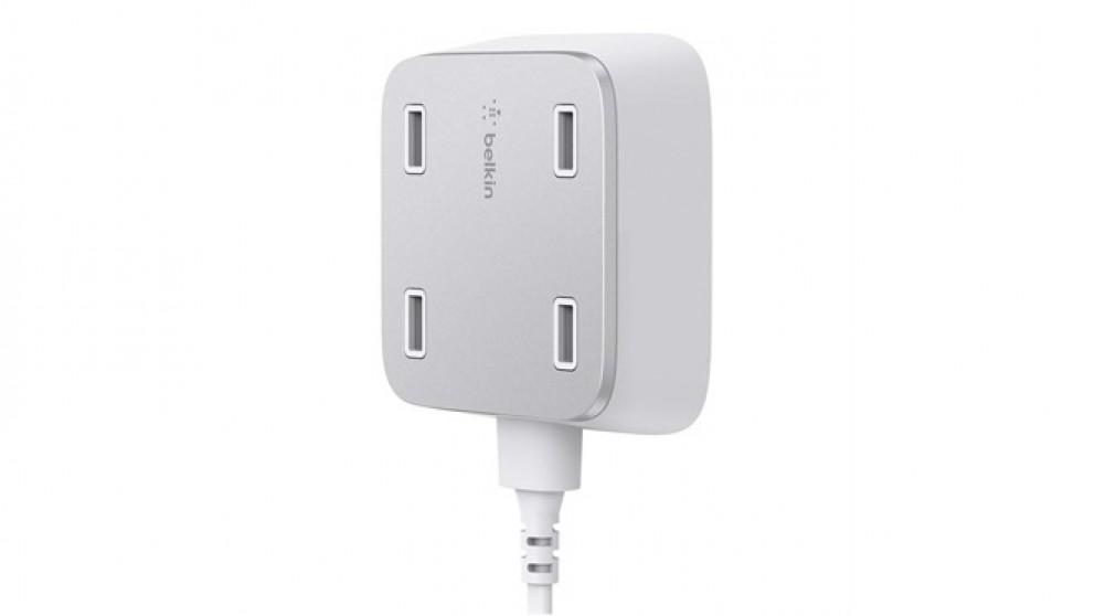 Belkin Family RockStar 4-Port USB Wall Charger - White