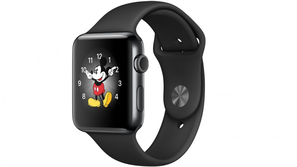 new arrive c4807 5ecc3 Apple Watch Series 2 - 42mm Space Black Stainless Steel Case with Black  Sport Band