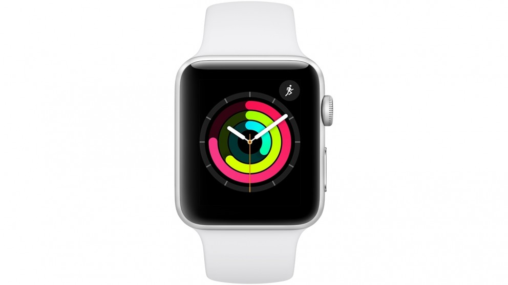 Apple Series 3 GPS Watch - 42mm Silver Aluminium Case with White Sport Band