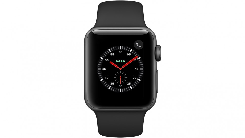 promo code 63867 632c5 Apple Watch Series 3 - 38mm Space Grey Aluminium Case with Black Sport Band  - GPS + Cellular