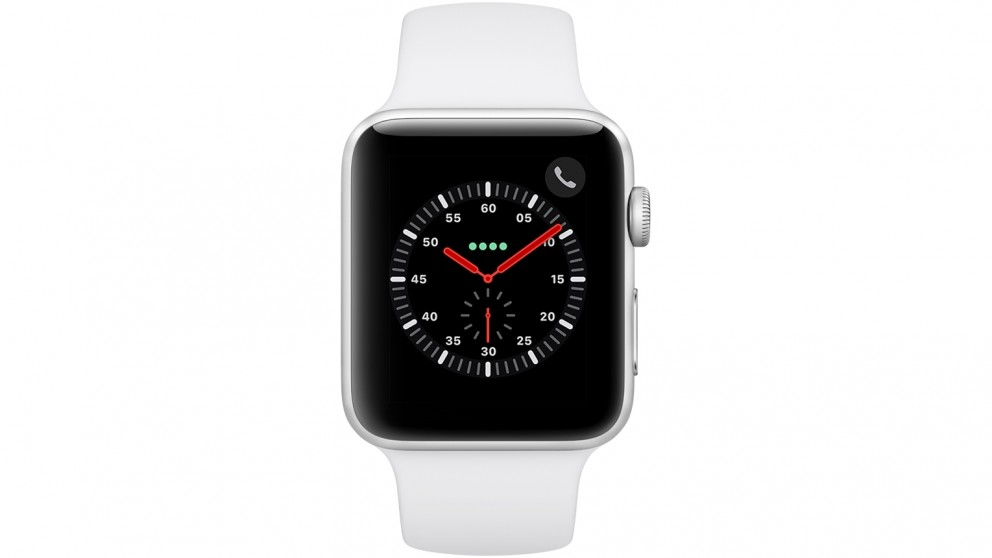 new arrivals 6a396 7521a Apple Watch Series 3 - 42mm Silver Aluminium Case with White Sport Band -  GPS + Cellular