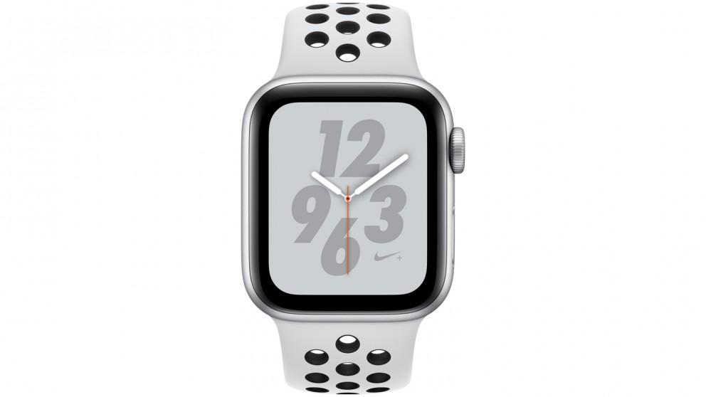 premium selection c8bcf ebefc Apple Watch Nike+ Series 4 - 40mm Silver Aluminium Case with Pure  Platinum/Black Nike Sport Loop - GPS