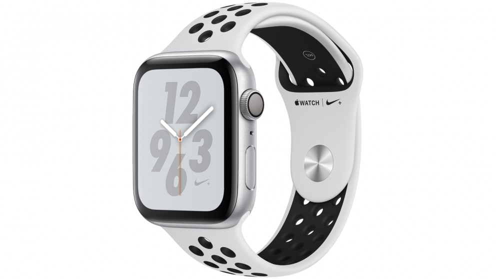 Buy Apple Watch Nike+ Series 4 - 44mm Silver Aluminium Case with Pure  Platinum Black Nike Sport Band - GPS  f330414b2a4