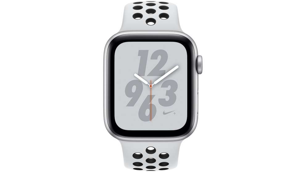 wholesale dealer 507d8 9bbef Apple Watch Nike+ Series 4 - 44mm Silver Aluminium Case with Pure  Platinum/Black Nike Sport Band - GPS
