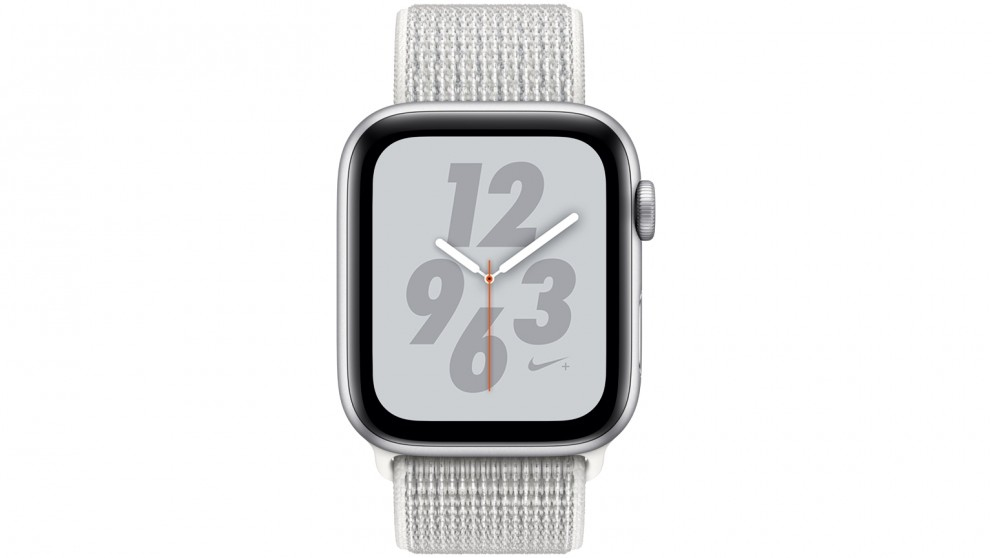 Apple Watch Nike+ Series 4 - 44mm Silver Aluminium Case with Summit White  Nike Sport Loop - GPS