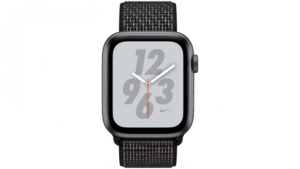 detailed look 345eb aad34 Apple Watch Nike+ Series 4 - 44mm Space Grey Aluminium Case with Black Nike  Sport Loop - GPS