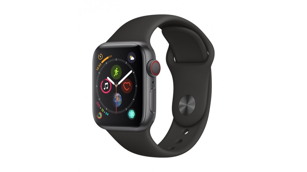 107d475b4aeb3 Buy Apple Watch Series 4 GPS + Cellular - 40mm Space Grey Aluminium Case  with Black Sport Band
