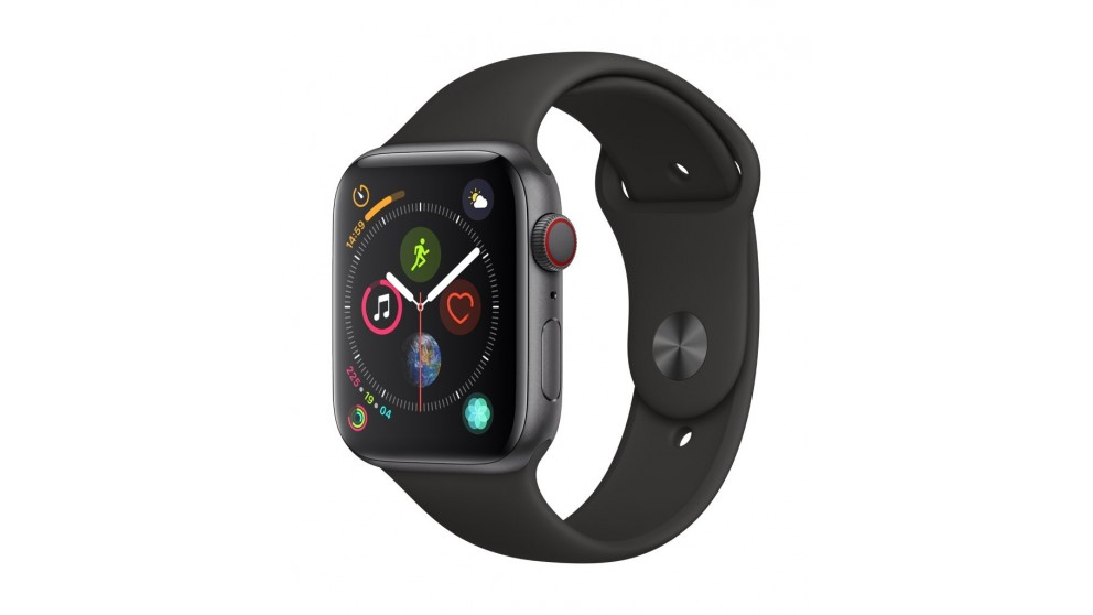 Apple Watch Series 4 GPS + Cellular - 44mm Space Grey Aluminium Case with Black Sport Band | Tuggl