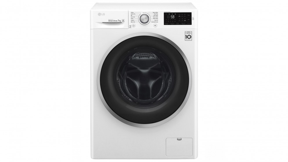LG 7kg Front Load Washing Machine - White