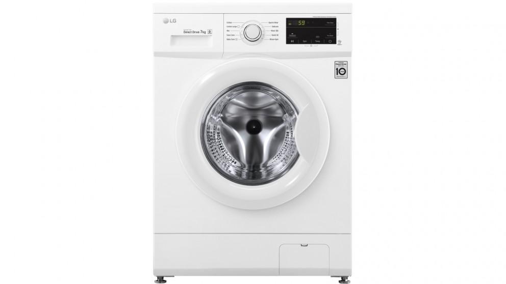 LG 7kg Front Load Washing Machine - White