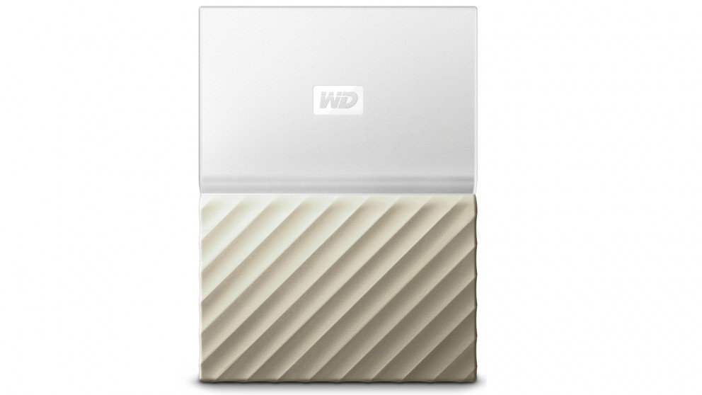 WD My Passport Ultra 1TB Storage Device - White/Gold