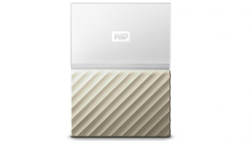 WD My Passport Ultra 2TB Storage Device - White/Gold