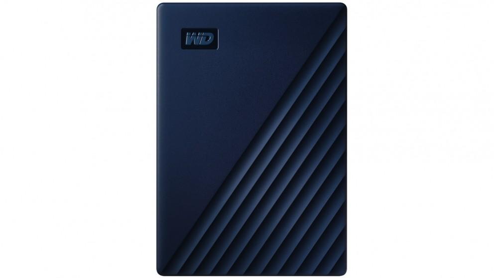 WD My Passport for Mac 4TB Portable Hard Drive - Midnight Blue