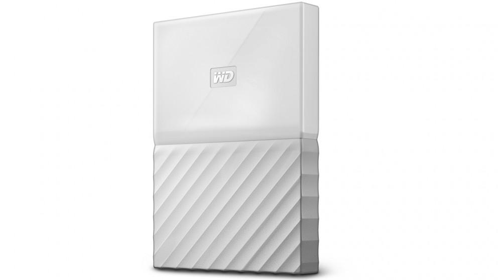 WD My Passport 2TB Portable Hard Drive - White