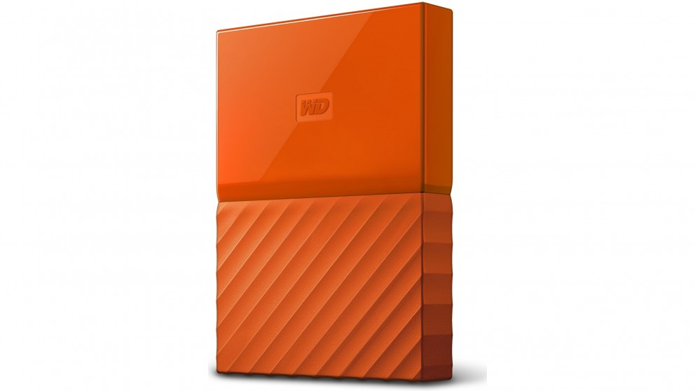 WD My Passport 2017 1TB Portable Hard Drive - Orange