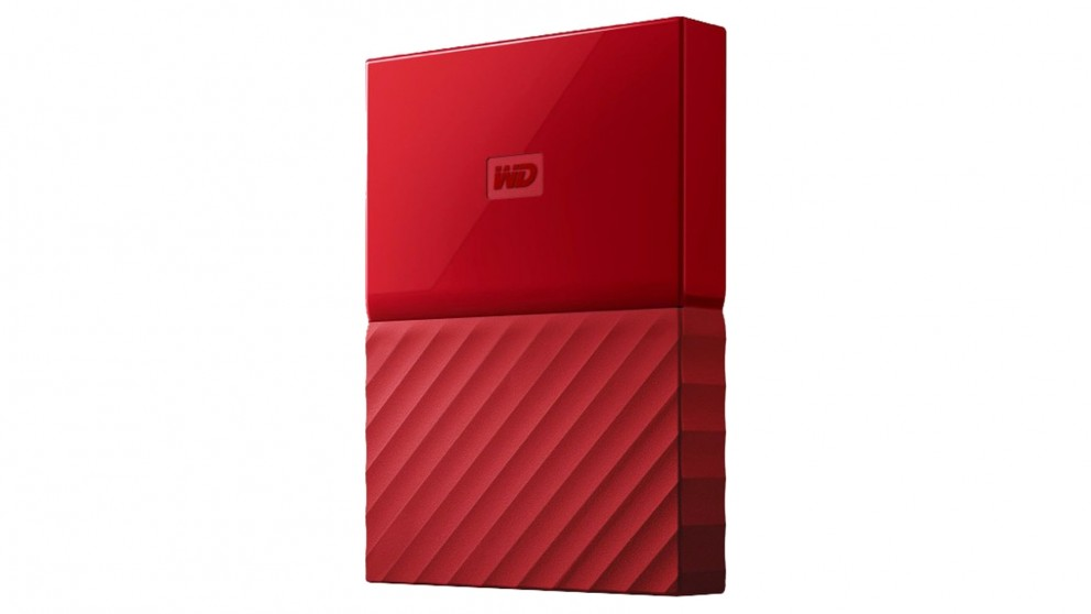 WD My Passport 2017 1TB Portable Hard Drive - Red