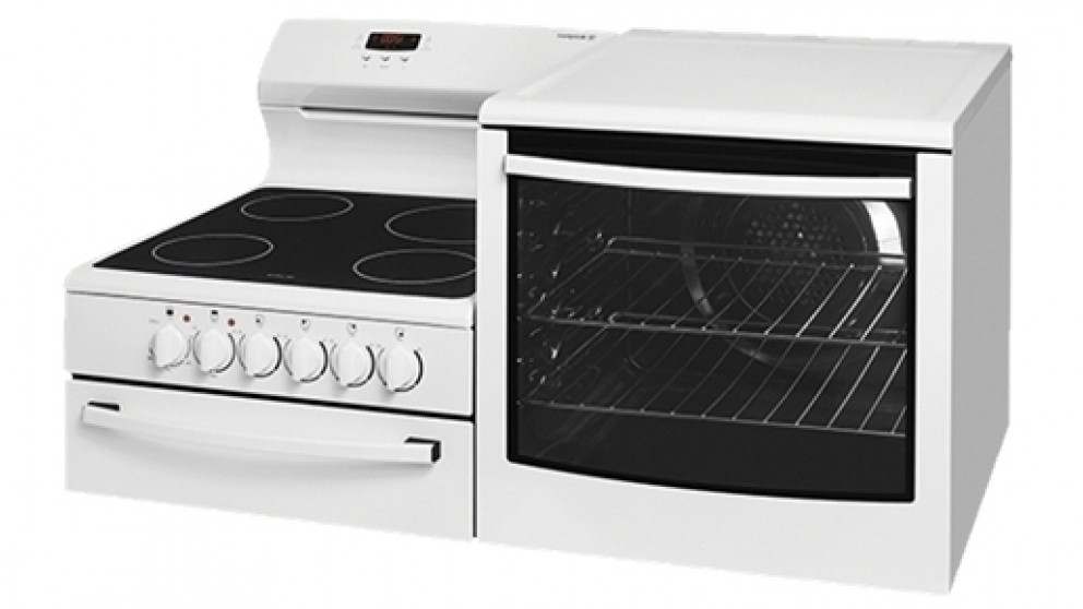 Westinghouse 108.5cm Fan Forced Freestanding Elevated Ceramic Electric Cooker - Right Oven