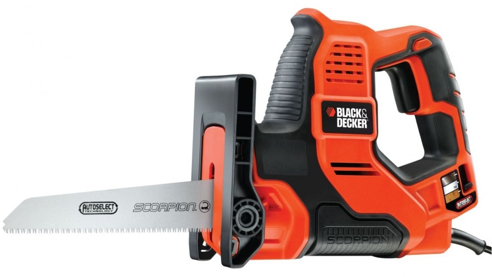 Black+Decker 500W Scorpion Powered Hand Saw with Autoselect Technology - Orange