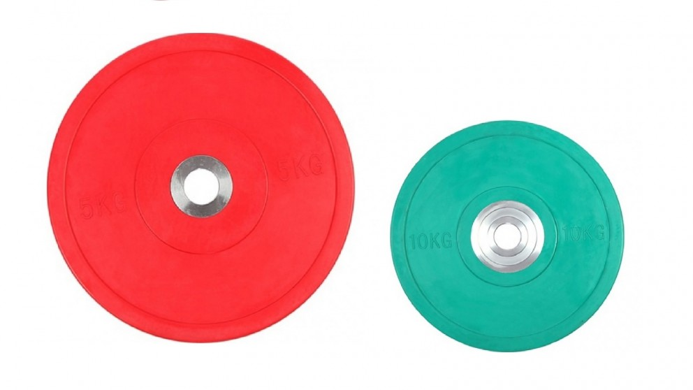 Serrano Set of 2 Pro Olympic Rubber Bumper Weight Plate