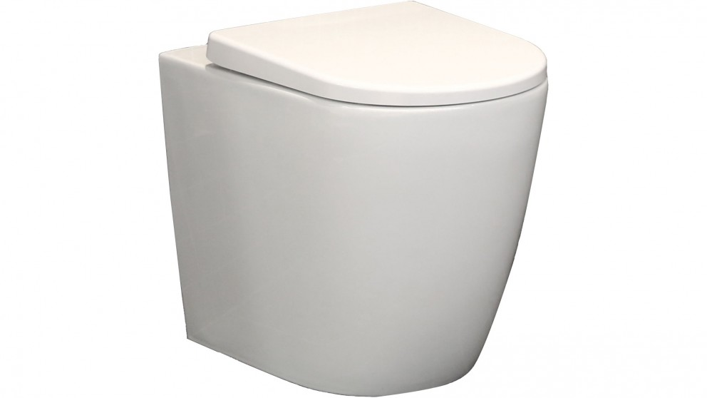 Argent Grace Hygiene Wall Faced Pan with In Wall Cistern and Kubic Matte Black Flushplate