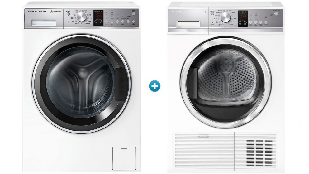Fisher & Paykel 10kg Front Load Washing Machine & 8kg Heat Pump Condensing Dryer Package