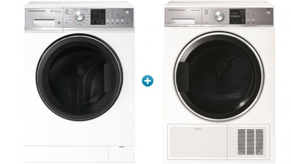 Fisher & Paykel 10kg Series 7 Front Load Washing Machine plus 9kg Heat Pump Condensing Dryer Package