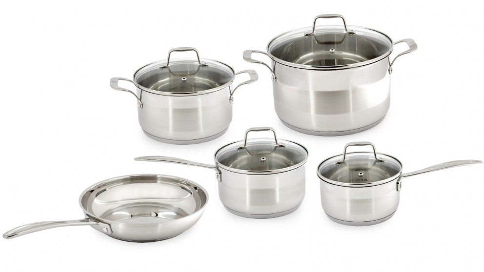 Westinghouse 5-Piece Pot and Pan Set - Stainless Steel