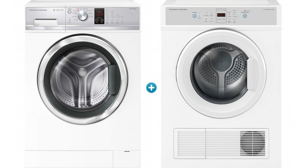 Fisher & Paykel 8kg Front Load Washing Machine with 6Kg Sensor Vented Dryer