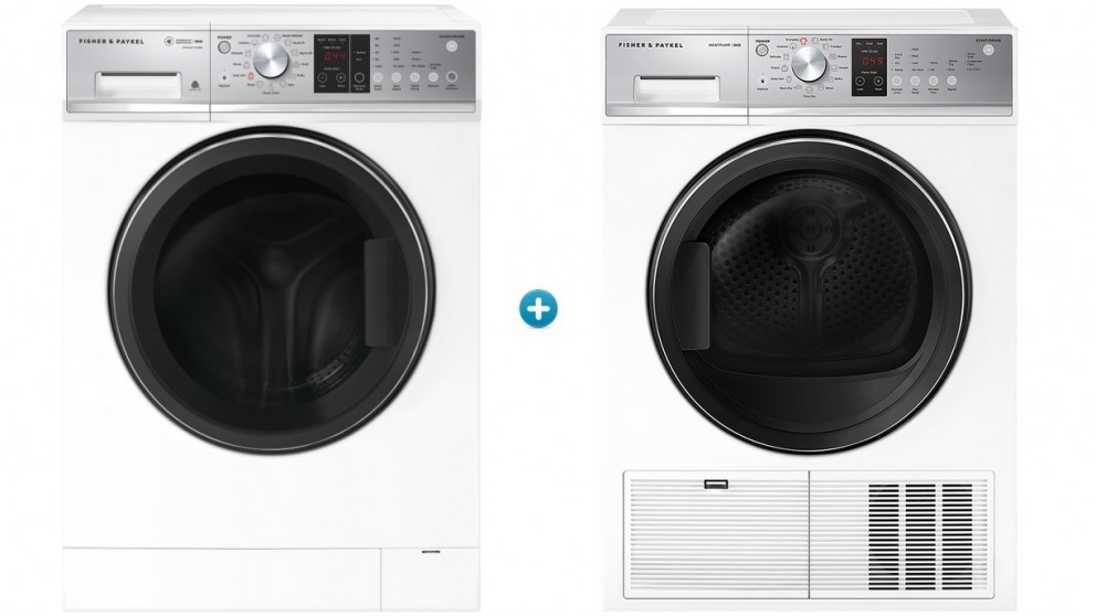 Fisher & Paykel 9kg Series 7 Front Load Washing Machine plus 8kg Heat Pump Condensing Dryer Package