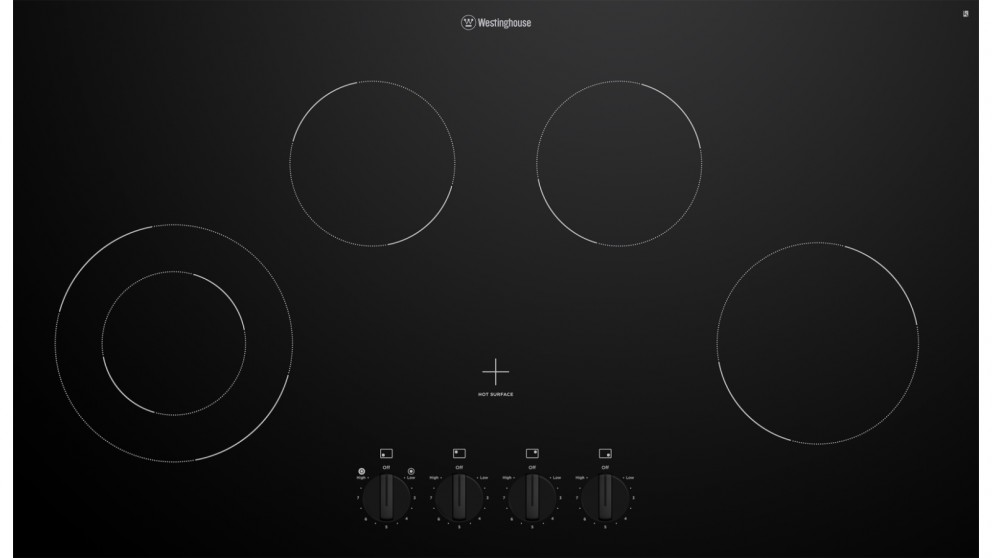 Westinghouse 900mm 4 Zone Ceramic Cooktop with Knob Control