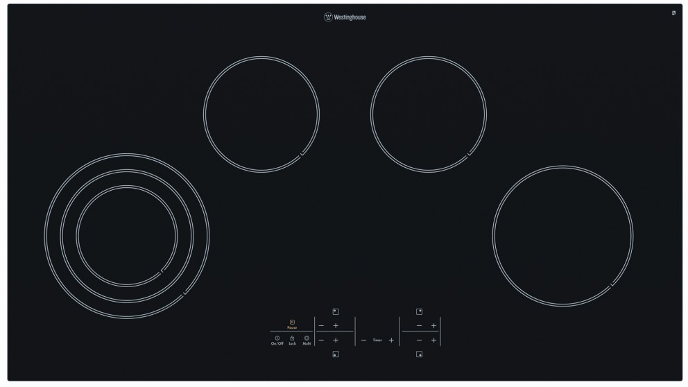 Buy Westinghouse 900mm 6 Zone Ceramic Electric Cooktop