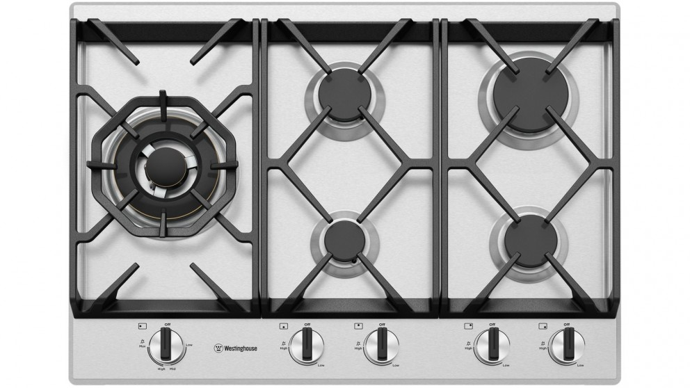 Westinghouse 750mm 5 Burner Stainless Steel Gas Cooktop