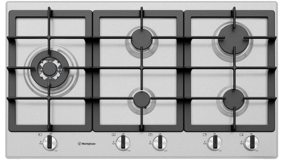 Westinghouse 900mm 5 Burner Stainless Steel Gas Cooktop