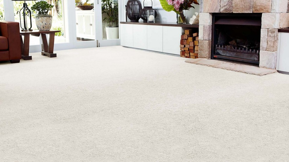 SmartStrand Forever Clean Chic - White Wisp Carpet Flooring