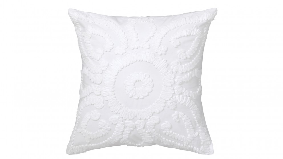 Solaris White Square Cushion