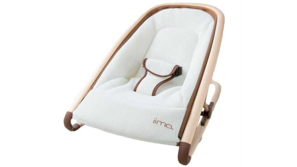 IIMO Rocking Chair Bronze Frame - White