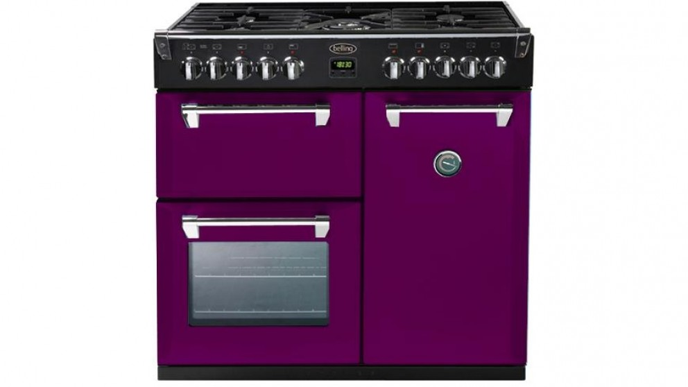 Belling 900mm Richmond Colour Boutique Dual Fuel Range Freestanding Oven - Wild Berry