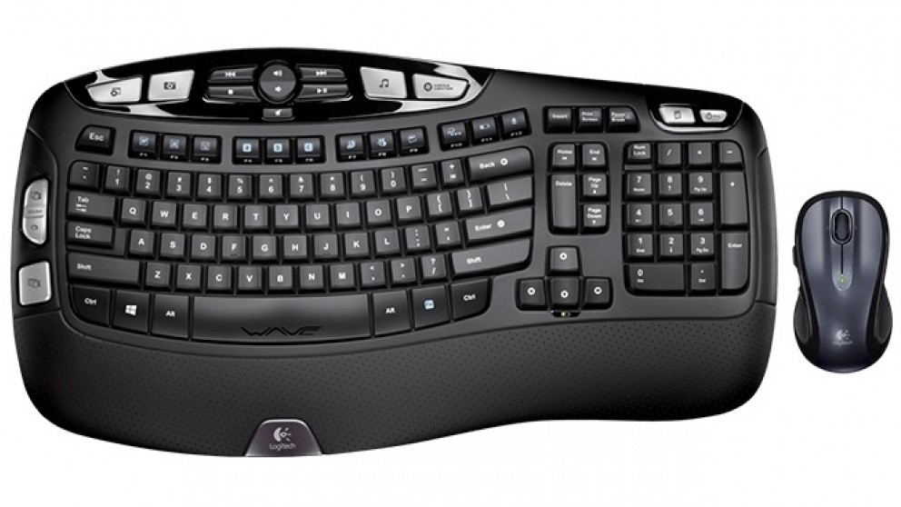 Logitech MK550 Wireless Keyboard and Mouse Wave Combo