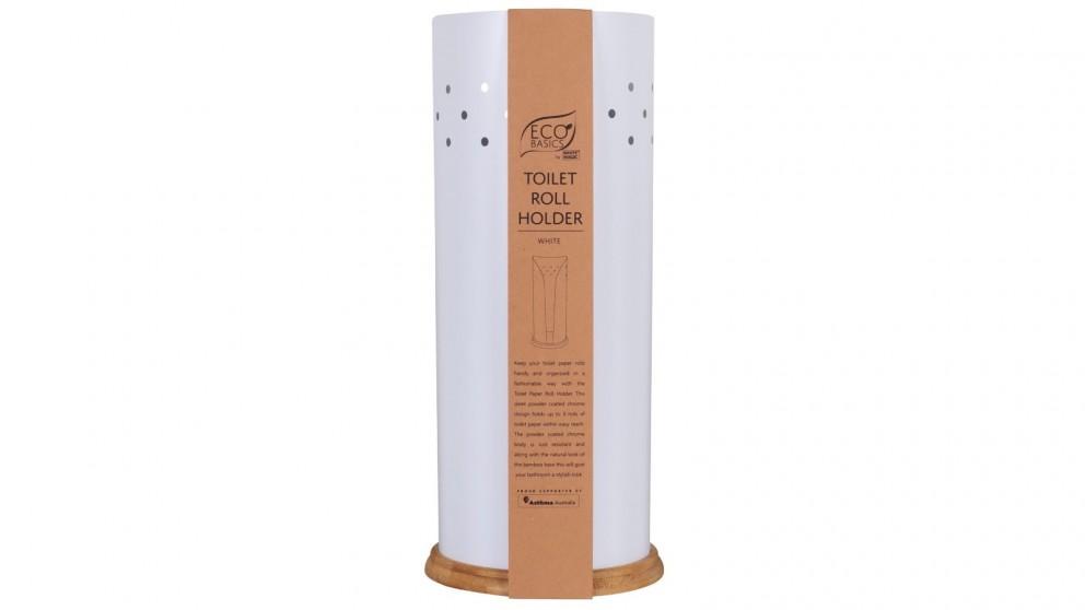 White Magic Eco Basics Toilet Roll Holder - White